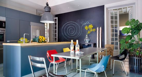 House Tour in Madrid: Get blue