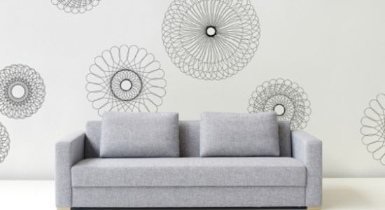 wandgestaltung schablonen einrichtungsideen wohnzimmer ideen wohnzimmer gestalten