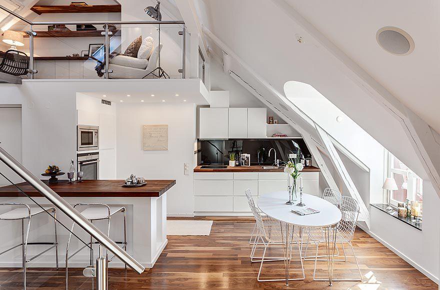 einrichtungsideen dachschrgen ein appartement in stockholm - Einrichtungsideen