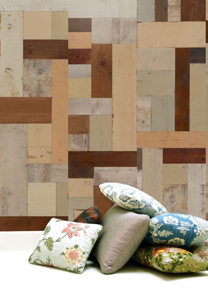 wandgestaltung scrapwood tapete von piet hein eek. Black Bedroom Furniture Sets. Home Design Ideas