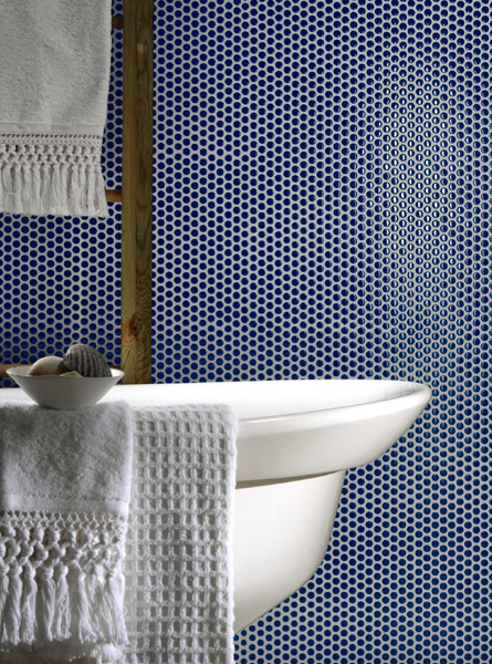 badezimmer blau braun