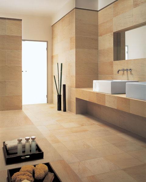 natursteine wie marmor granit sandstein oder schiefer eigenen sich ideal fr die gestaltung von badezimmern - Gestaltung Wohnzimmer Sandstein