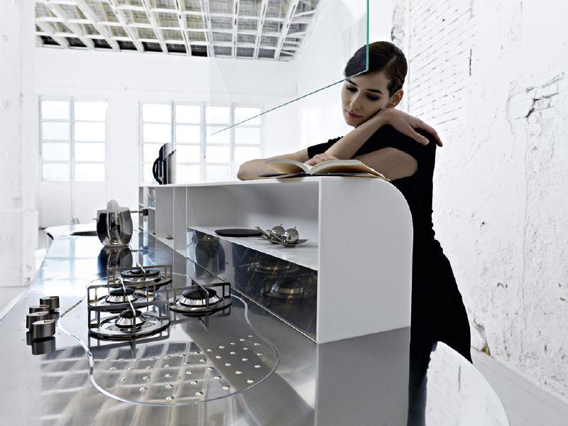 k chengestaltung la cucina alessi. Black Bedroom Furniture Sets. Home Design Ideas