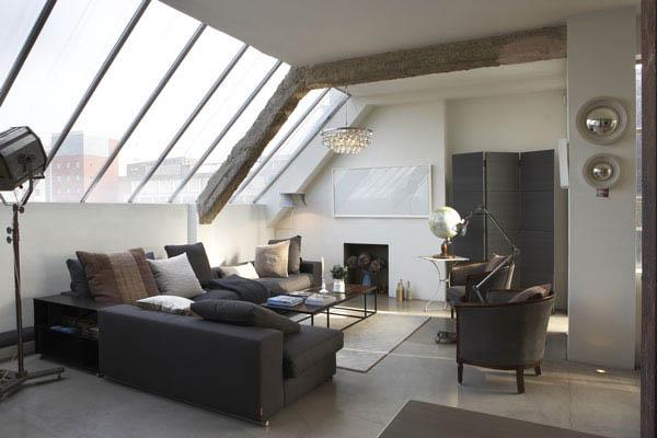 Wohnzimmer einrichten  Urban Loft: Wohnzimmer einrichten