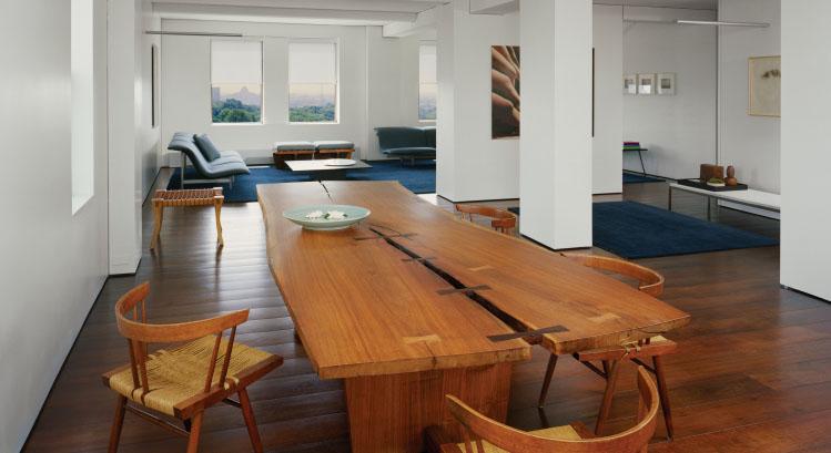 einrichten mit holz nakashima woodworker. Black Bedroom Furniture Sets. Home Design Ideas
