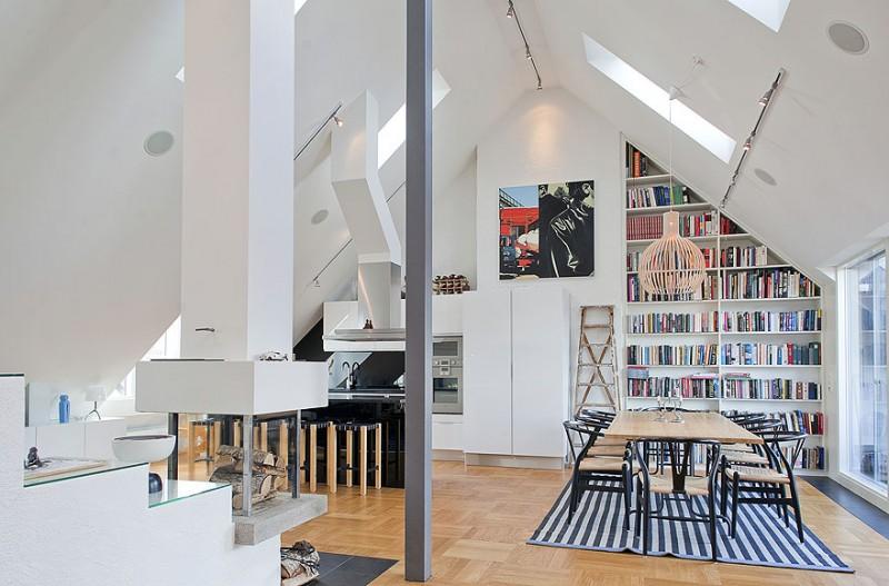 Loft Einrichtungsideen wohnungseinrichtung ideen loft style schlafzimmer ziegelwand orange
