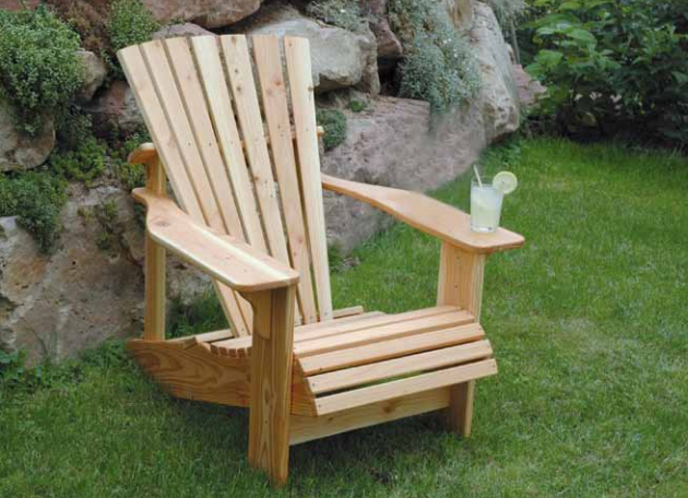 gartenm bel selber bauen adirondack sessel. Black Bedroom Furniture Sets. Home Design Ideas