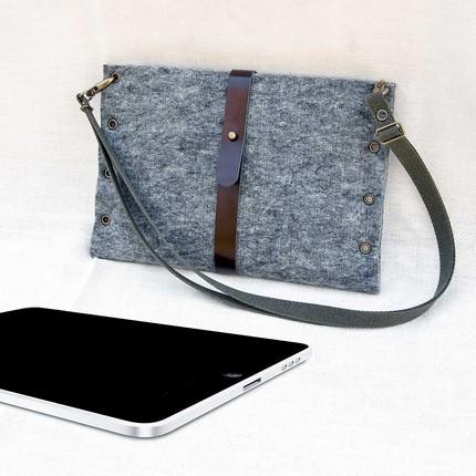 fundgrube etsy laptop tasche aus filz. Black Bedroom Furniture Sets. Home Design Ideas