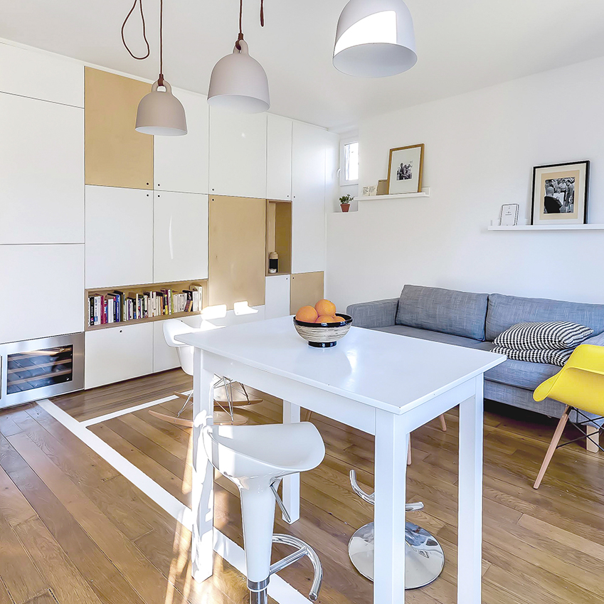 mini appartement einrichten. Black Bedroom Furniture Sets. Home Design Ideas