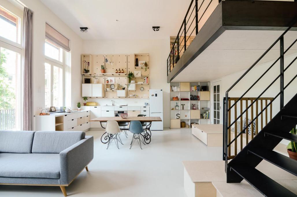 eine alte schule in holland in lofts umgewandelt - Loft Einrichten