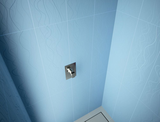 farben und muster im bad fliesen von karim rashid. Black Bedroom Furniture Sets. Home Design Ideas