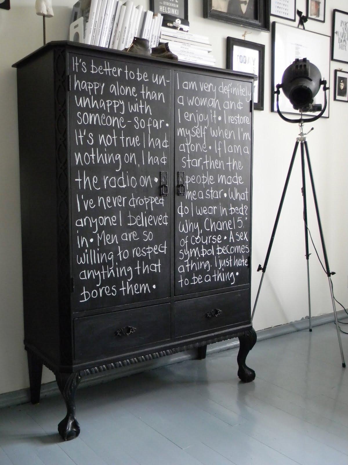 diy wohnung versch nern mit tafellack. Black Bedroom Furniture Sets. Home Design Ideas