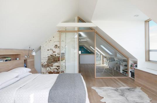 einrichtung schlafzimmer schräge: schrank für dachschräge nach maß