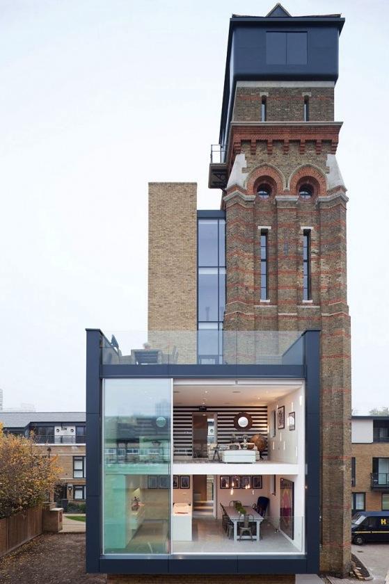 wohnen in einem wasserturm in london. Black Bedroom Furniture Sets. Home Design Ideas