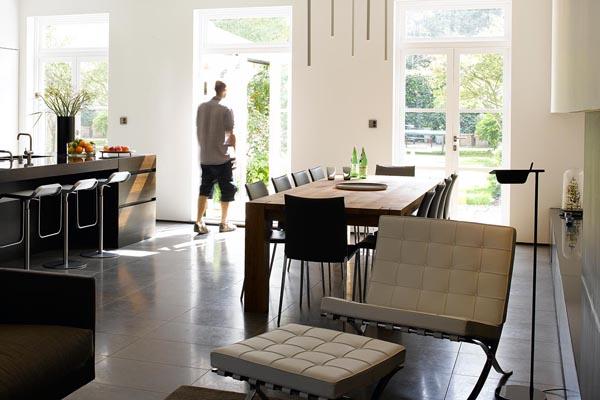 Weiß, Holz und Glas   zeitlos aktuelle Materialien für Design in jedem bereich
