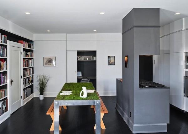wandgestaltung und wohnideen ein appartment in queens. Black Bedroom Furniture Sets. Home Design Ideas