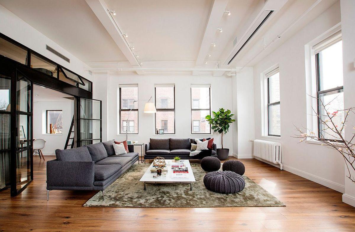 Wohnzimmer Ideen: Ein New Yorker Loft lädt ein