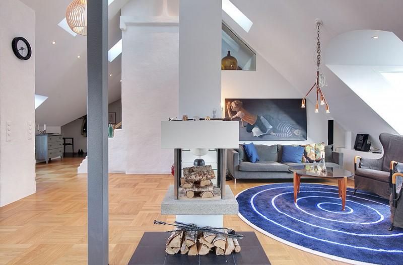 Loft Einrichtungsideen skandinavischer stil loft in stockholm