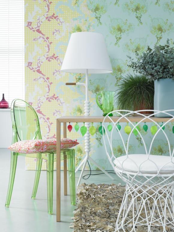 einrichten mit farben ii fresh green. Black Bedroom Furniture Sets. Home Design Ideas