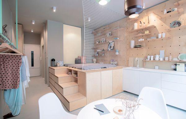 Ein Appartement Mit 30 Qm Geschickt Und Schick Eingerichtet