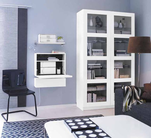 wohnideen kleine r ume wohnzimmer mit minib ro. Black Bedroom Furniture Sets. Home Design Ideas