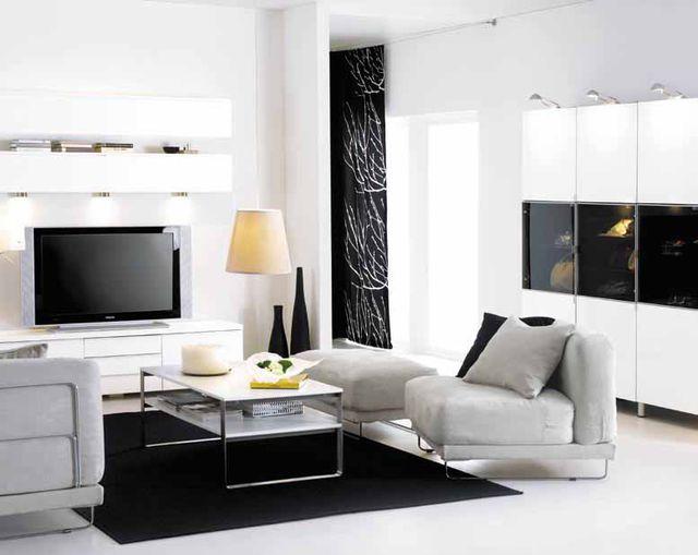 Wohnideen für´s Wohnzimmer: Simply Modern Schwarz und Weiss