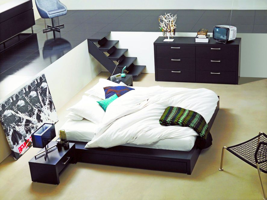 schlafzimmereinrichtung von boconcept. Black Bedroom Furniture Sets. Home Design Ideas