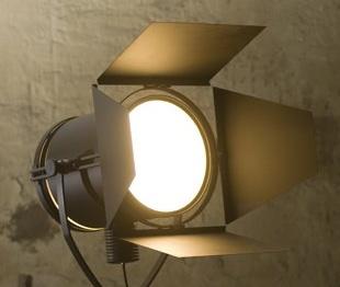 gro e filmleuchten f r den loft und wohnbereich von saigata. Black Bedroom Furniture Sets. Home Design Ideas
